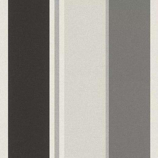 Fekete-fehér-szürke csíkos mintás vlies tapéta
