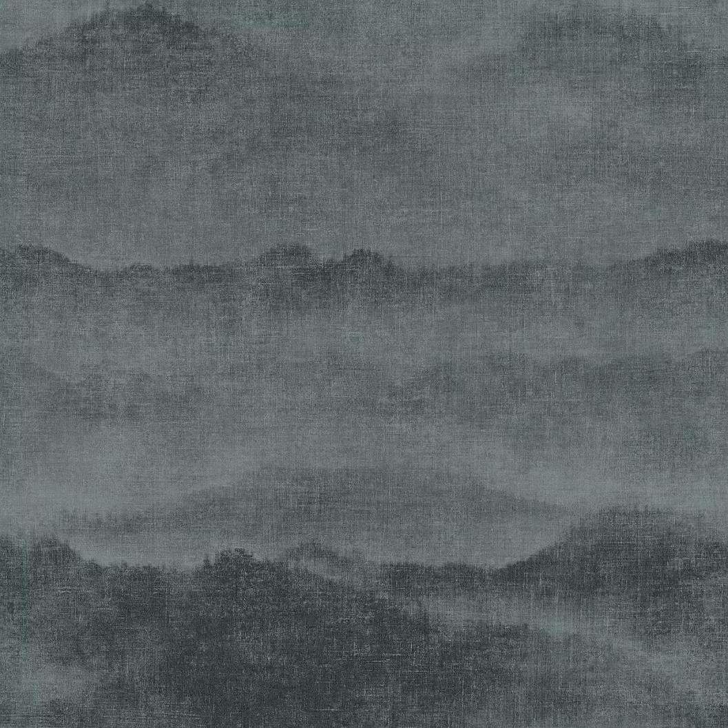 Fekete festett hatású hegyvonulat mintás vlies dekor tapéta