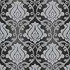Fekete szürke tapéta klasszikus barokk mintával