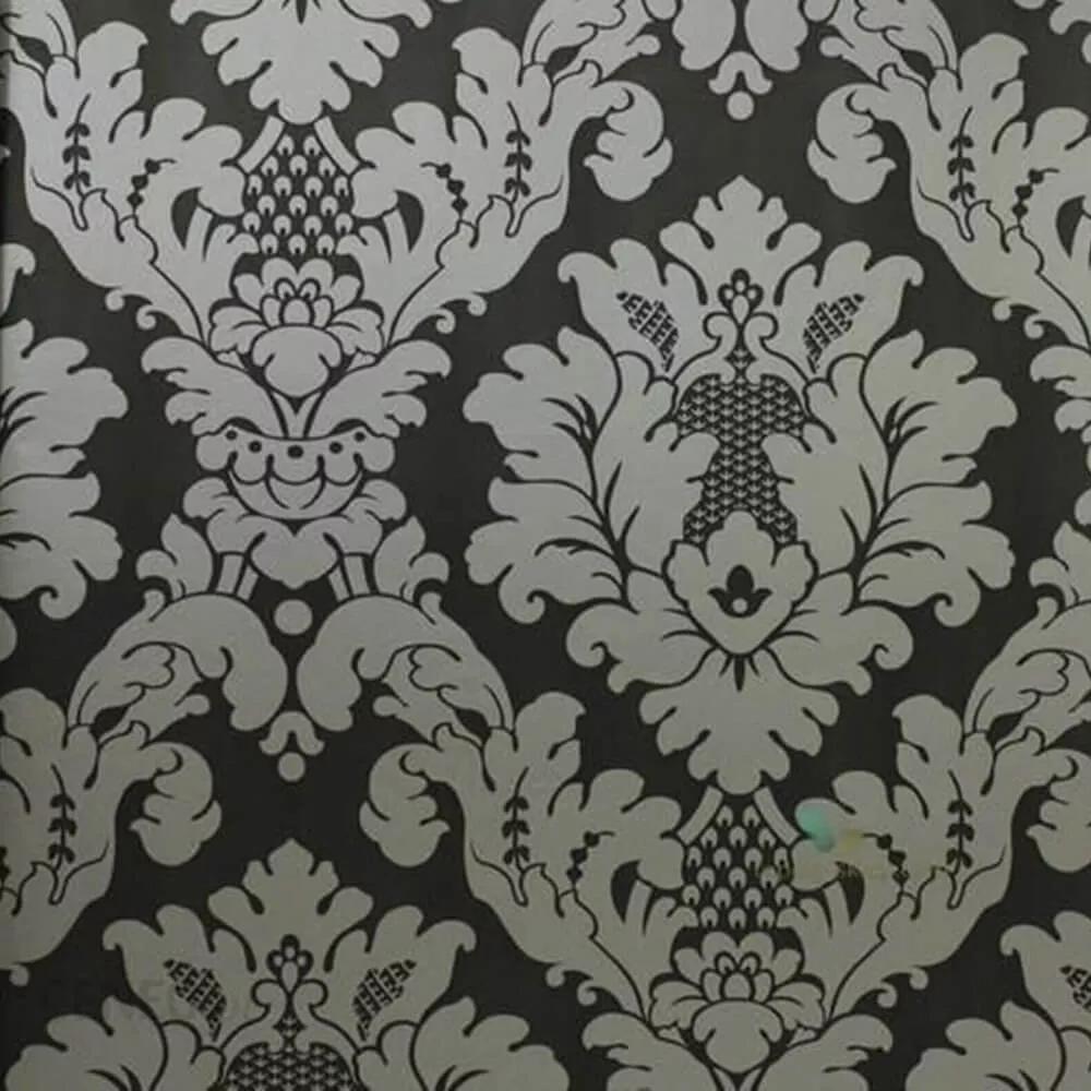 Fekete tapéta klasszikus barokk mintával