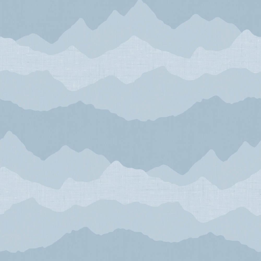 Felhő mintás kék gyerek tapéta