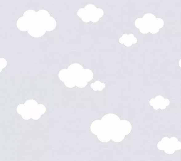 Felhő mintás szürke gyerek tapéta