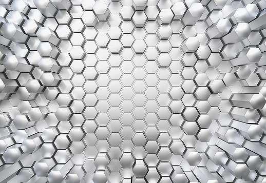 Fémes méhsejt hatású fali poszter