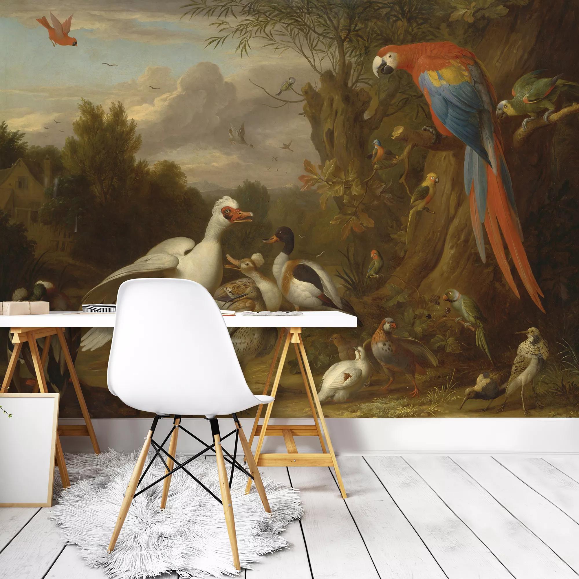 Festmény hatású madár mintás fali poszter