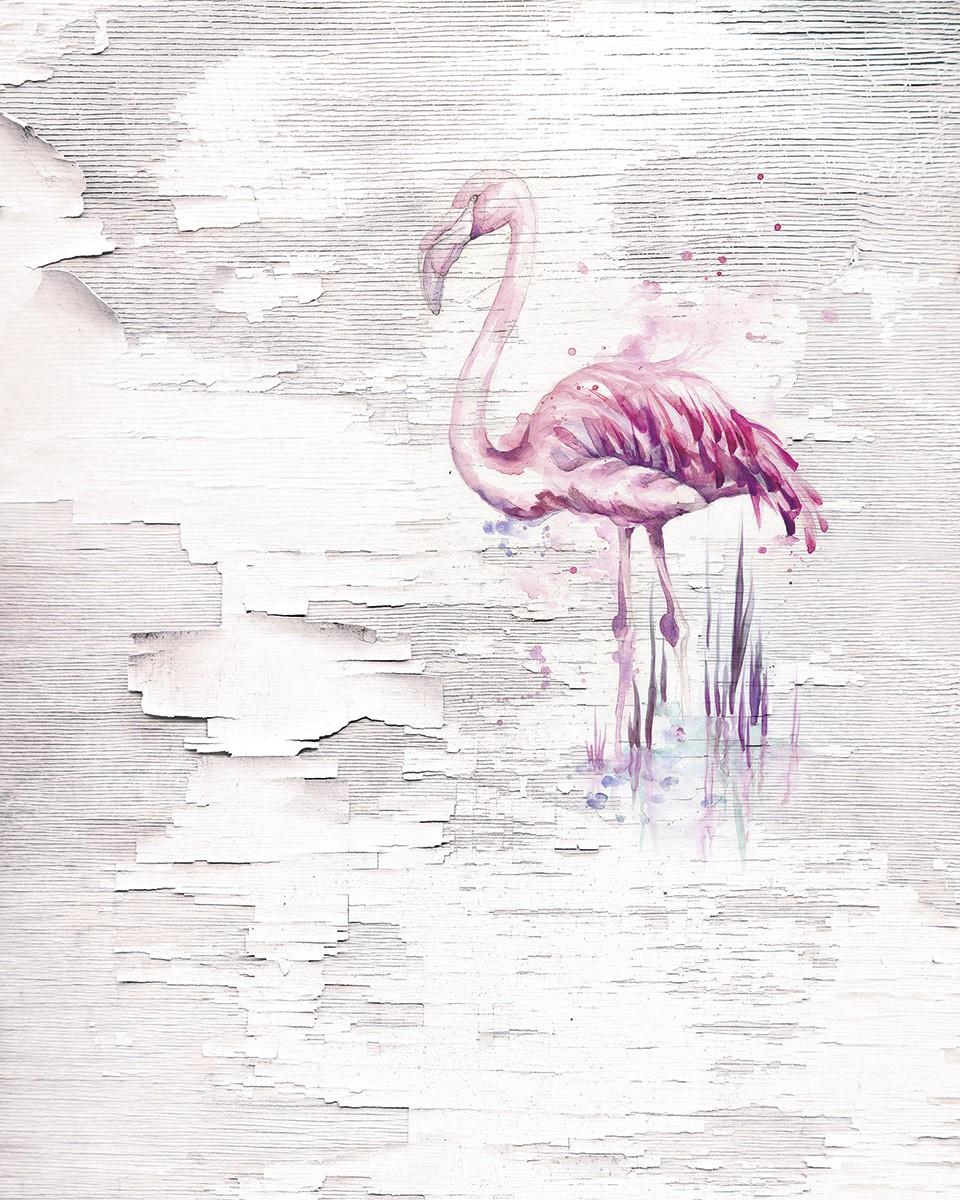 Flamingó mintás fali poszter