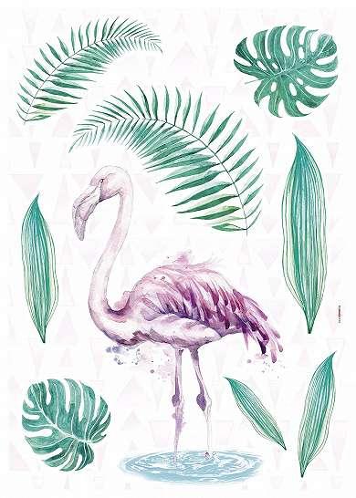 Flamingó mintás trendi fiatalos falmatrica