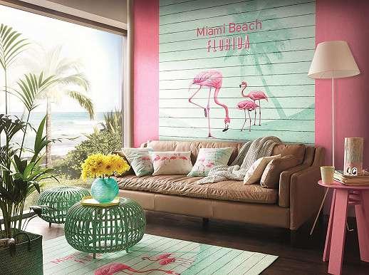 Flamingós poszter