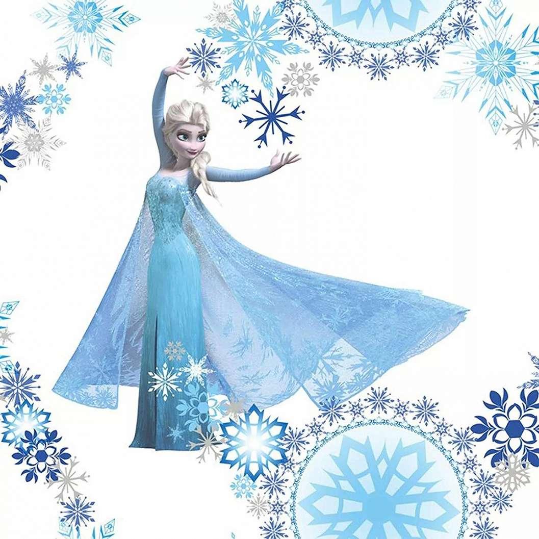 Frozen Disney gyerek tapéta kék, fehér színvilágban
