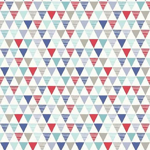 Geometriai mintás gyerek tapéta fius színvilágban