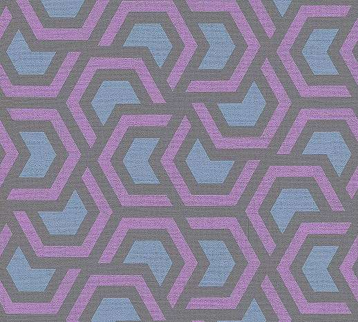 Geometrikus mintás modern tapéta, lila, kék, fekete harmonikus színekben