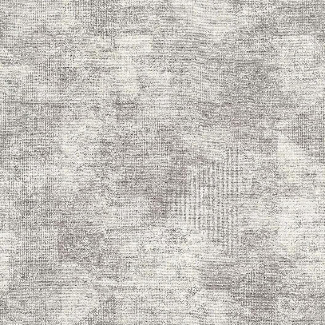 Geometrikus mintás tapéta ezüst szürke színekkel