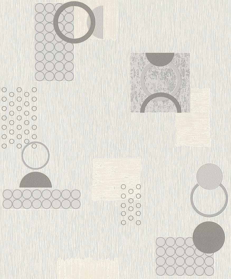 Geometrikus mintás tapéta kör mintával