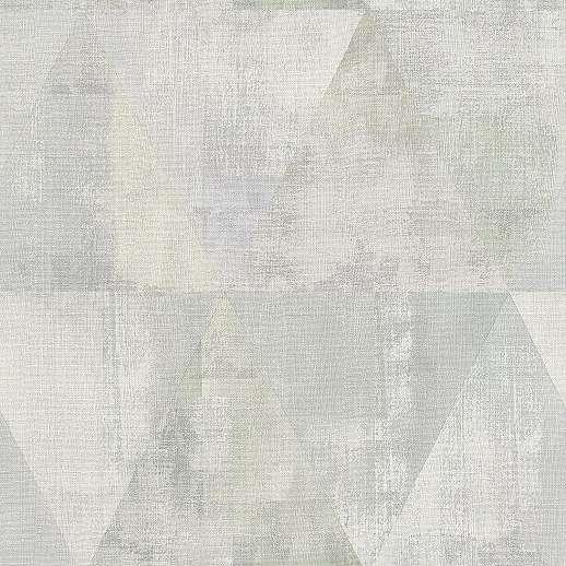 Geometrikus mintás tapéta szürke krém, oliva színekkel