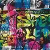 Graffitis tapéta gyerekszobába