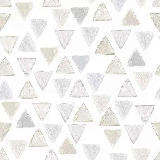 Gyerek tapéta háromszög mintával pasztell színekkel