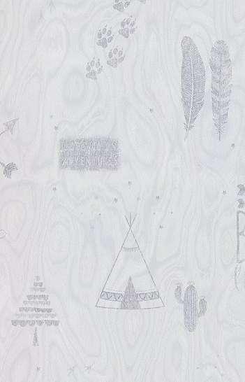 Gyerek tapéta indián sátor mintával