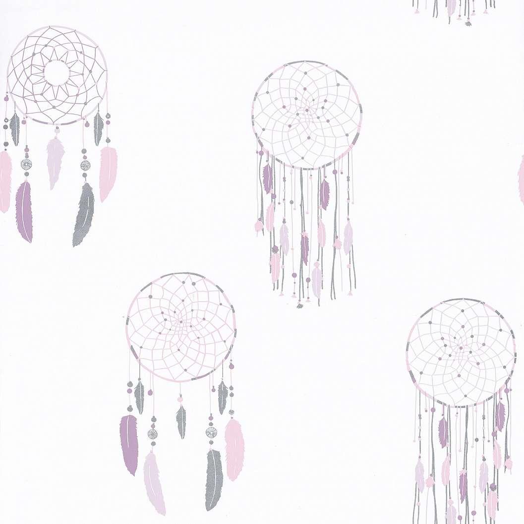Gyerek tapéta lila álomcsapda mintával