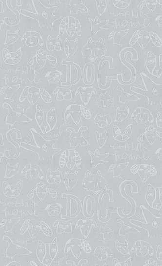 Gyerek tapéta rajzolt állat mintákkal
