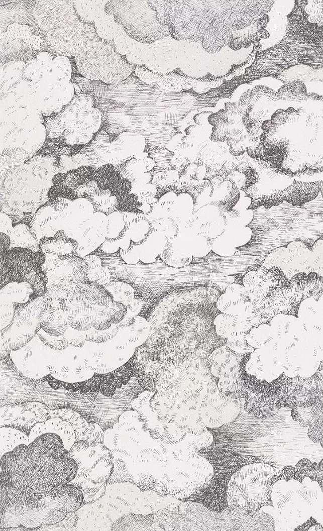 Gyerek tapéta rajzolt felhő mintával