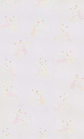 Gyerek tapéta rózsaszín alapon kedves nyuszi mintákkal skandináv stílusban