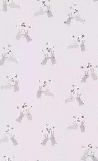 Gyerek tapéta skandináv stílusban nyuszi mintával pasztell színben
