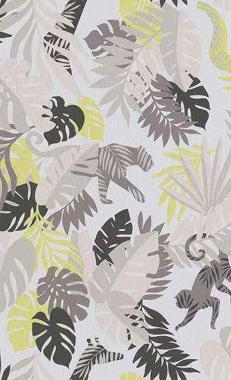 Gyerek tapéta trópusi hangulatban állat mintával