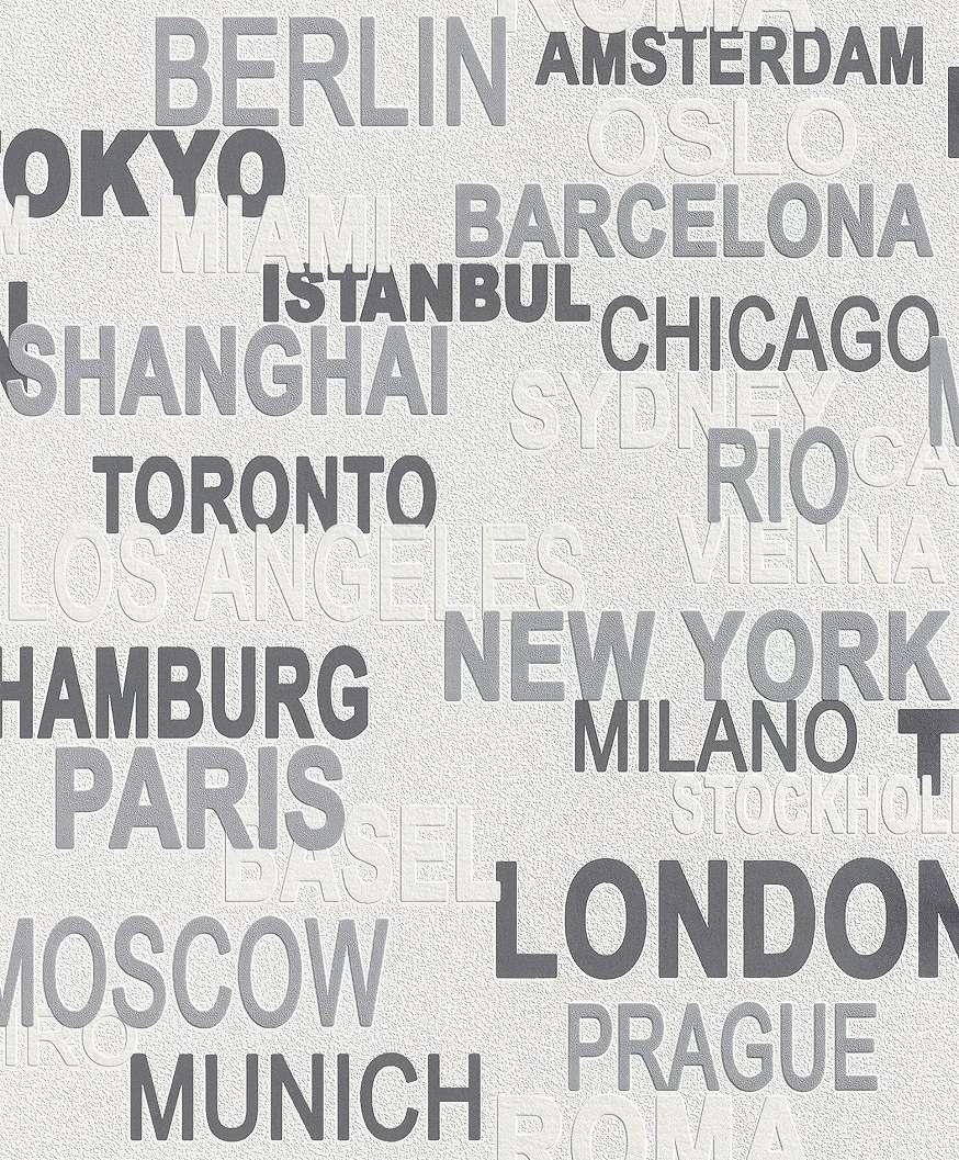 Gyerek tapéta városnevekkel