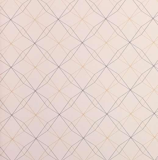 Gyerek tapéta vékony geometriai mintával rózsaszín alapszínnel