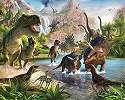 Gyerekszobai fali poszter dinoszauruszokal
