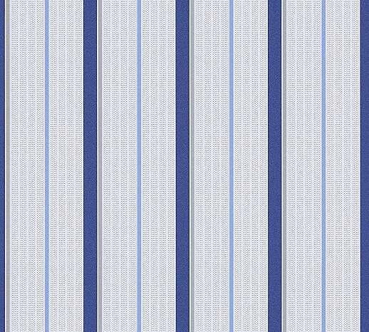 Gyerektapéta kék csíkos mintával habosított felülettel