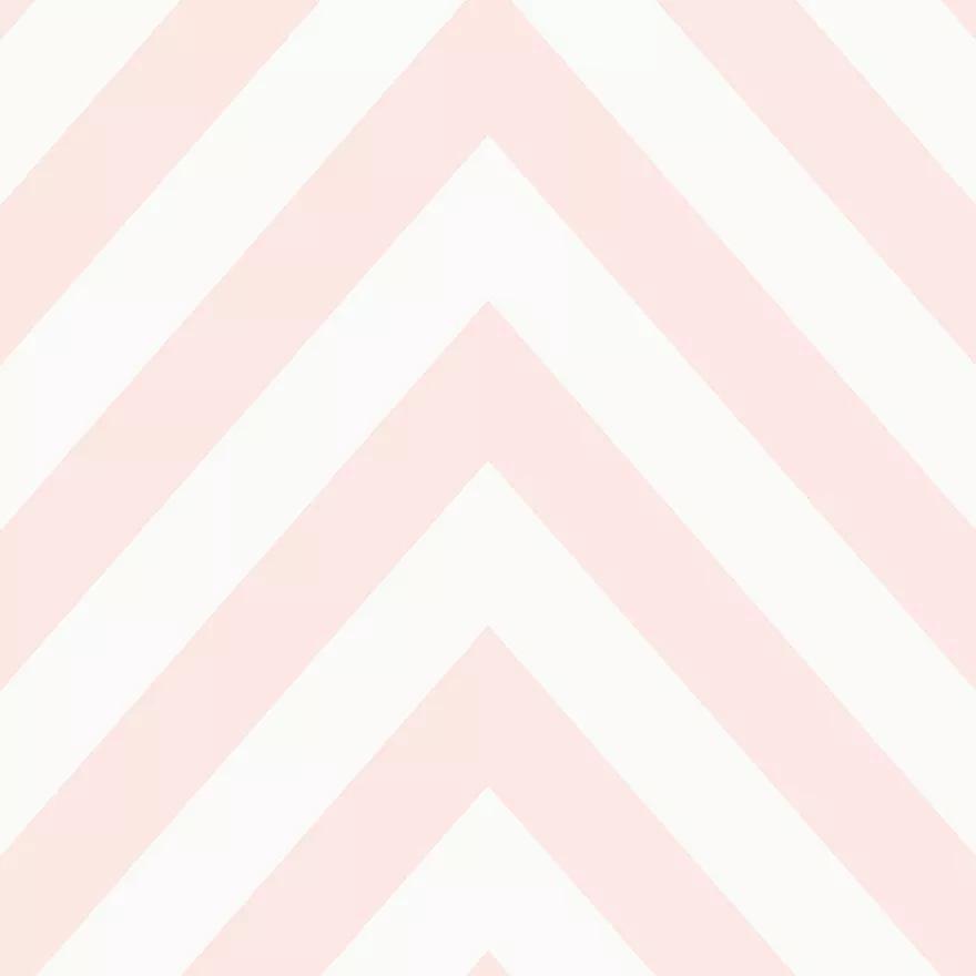 Gyerektapéta rózsaszín chevron csíkos mintával