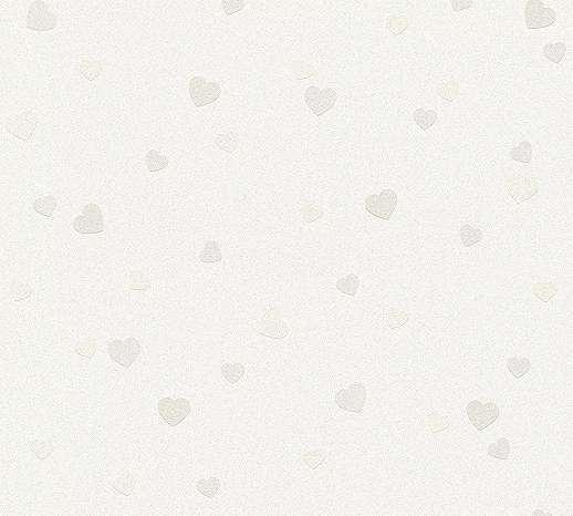 Gyerektapéta szivecske mintákkal pasztel színben