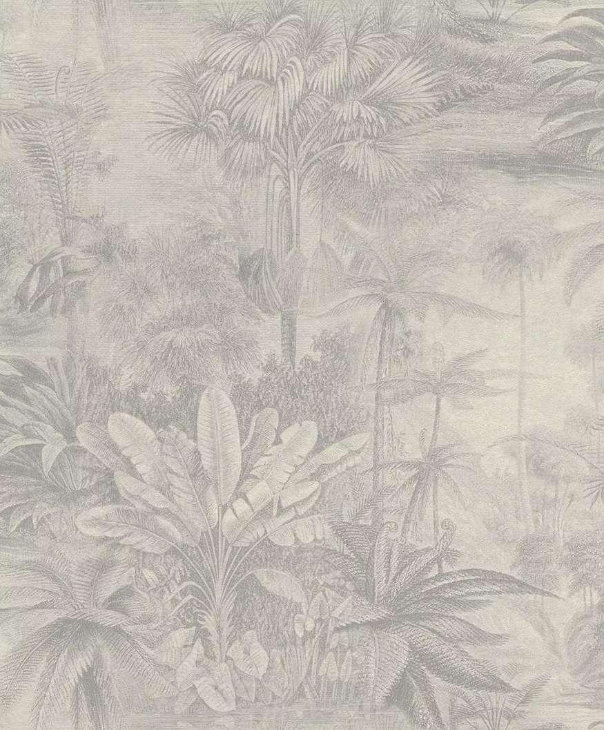 Gyönyörű trópusi mintás tapéta gyöngyházfénnyel