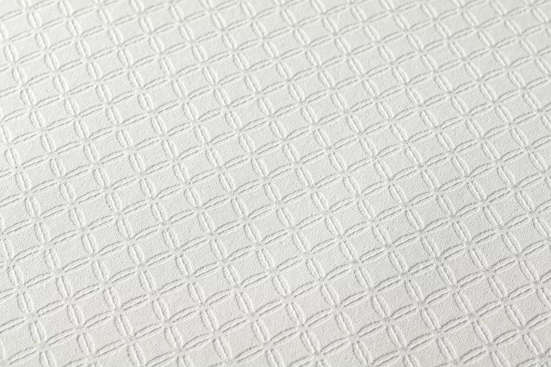 Halvány szürke habosított felületű modern apró geometriai mintás tapéta
