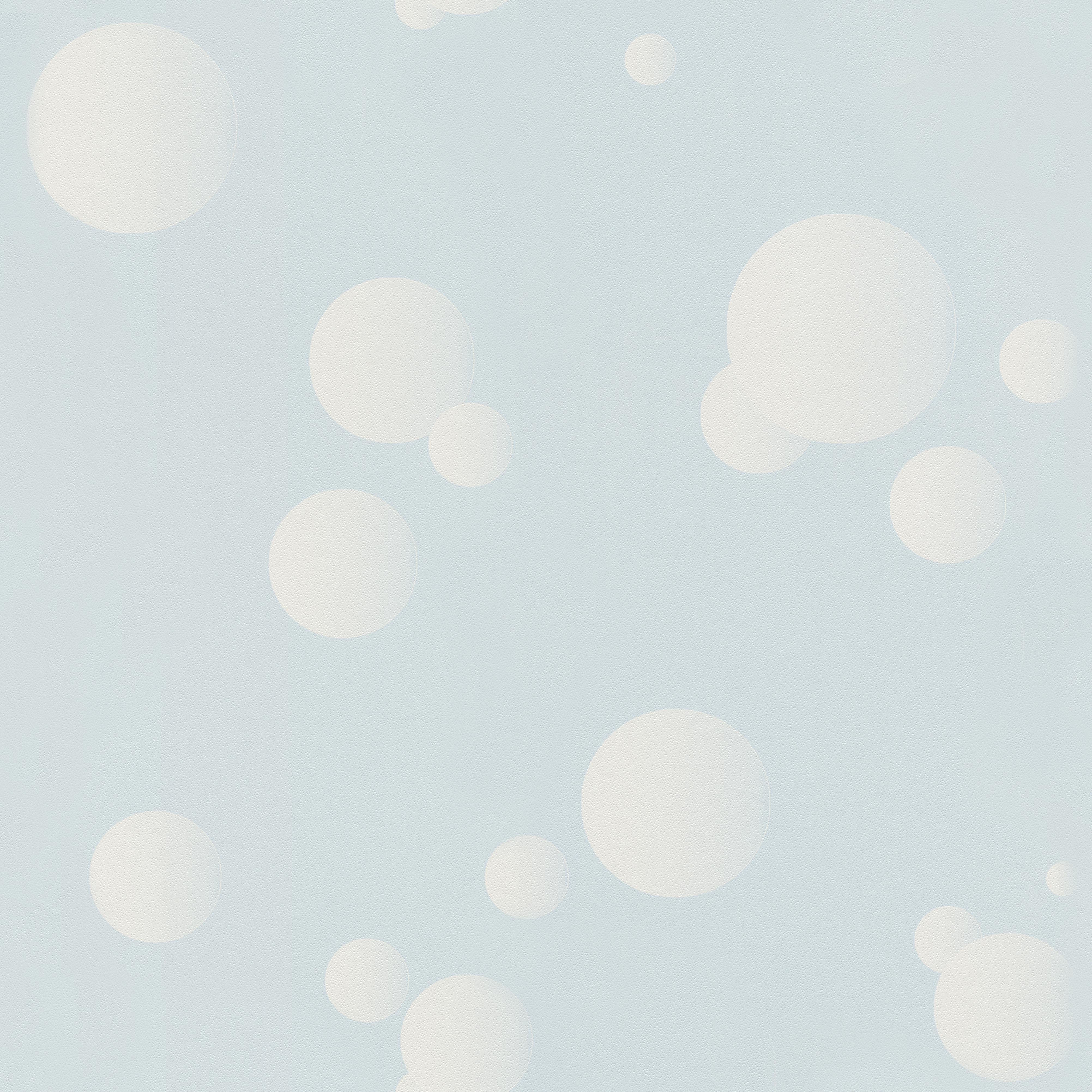 Halványkék alapon fehér pöttyös gyerek tapéta