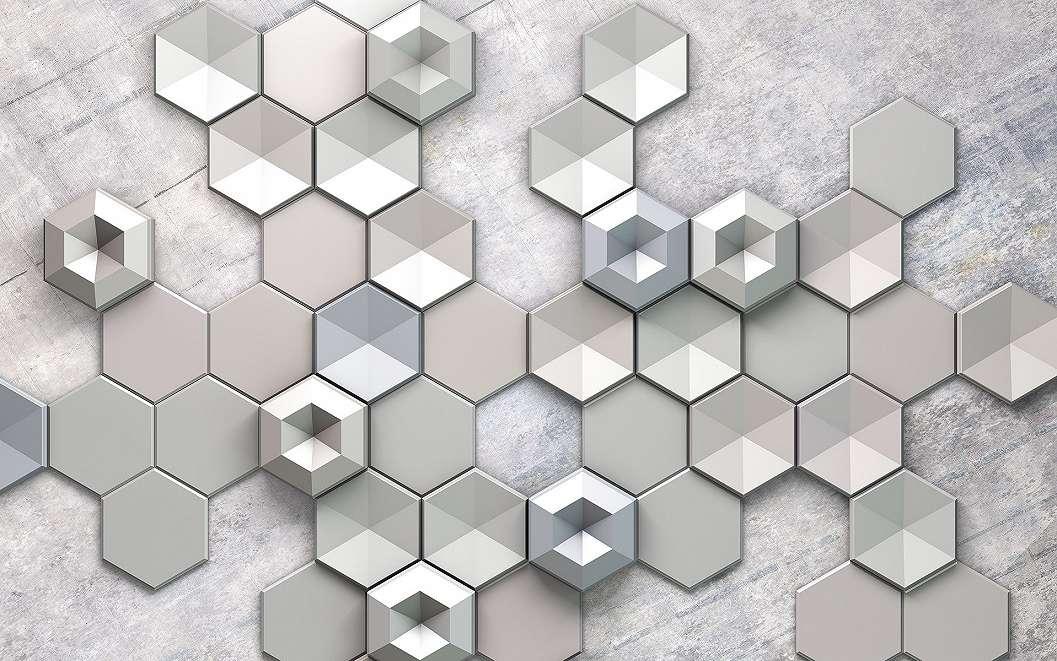 Hatszögű mintás fali poszter