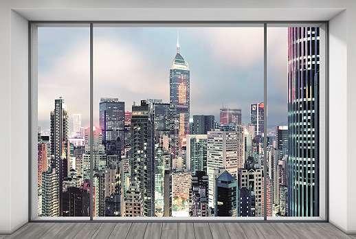 High-Tech felhőkarcolók fali poszter