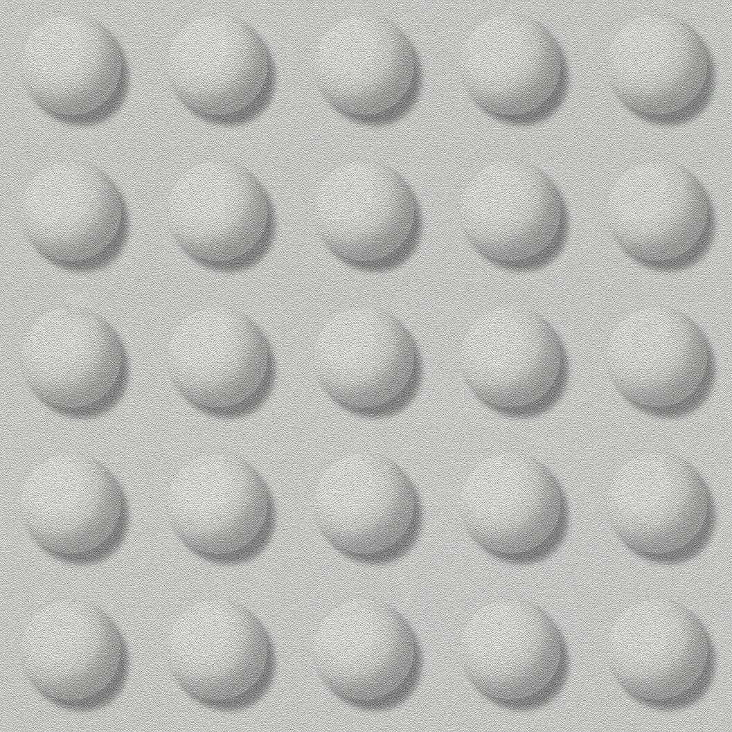 High tech gömb mintás tapéta ezüstszürke színben