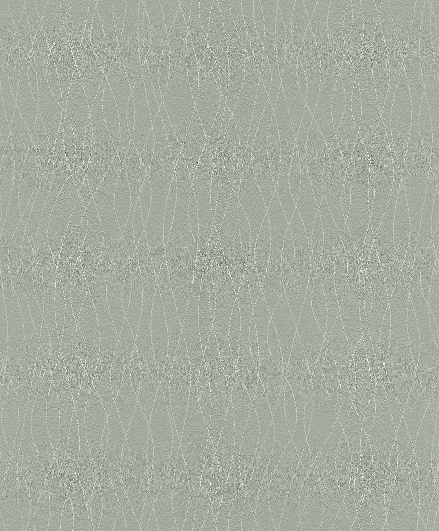 Hullám mintás tapéta zöld alapon ezüst hullám mintával