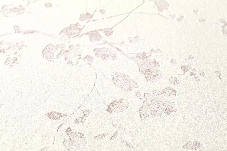 Inda, virág mintás tapéta lila fehér színben