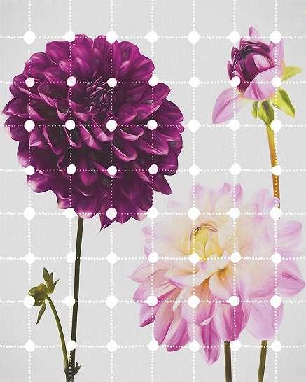 Játékos virágmintás modern poszter