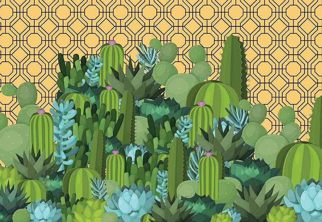 Kaktusz mintás fali poszter