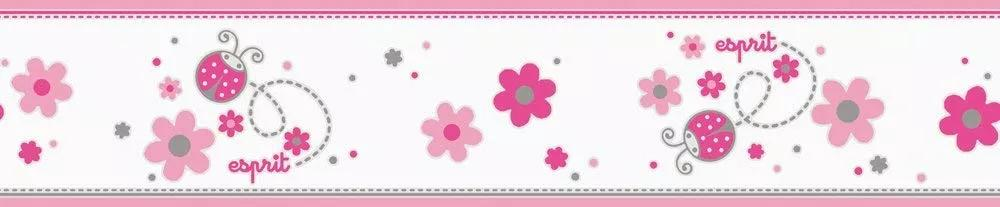 Katica mintás bordűr rózsaszín színvilágban