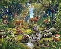 Kedves erdei állat mintás fali poszter gyerekszobába