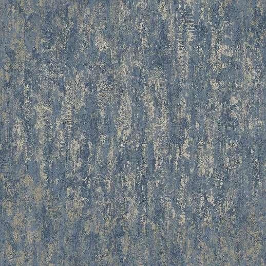 Kék arany fényes metál hatású vlies dekor tapéta