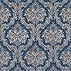 Kék arany klasszikus stílusú barokk mintás vlies tapéta