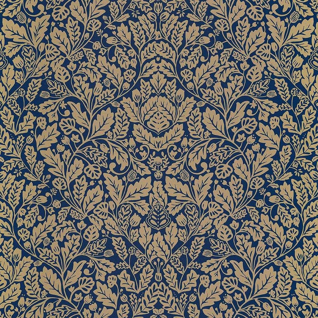 Kék arany orientális mintás vlies luxus tapéta