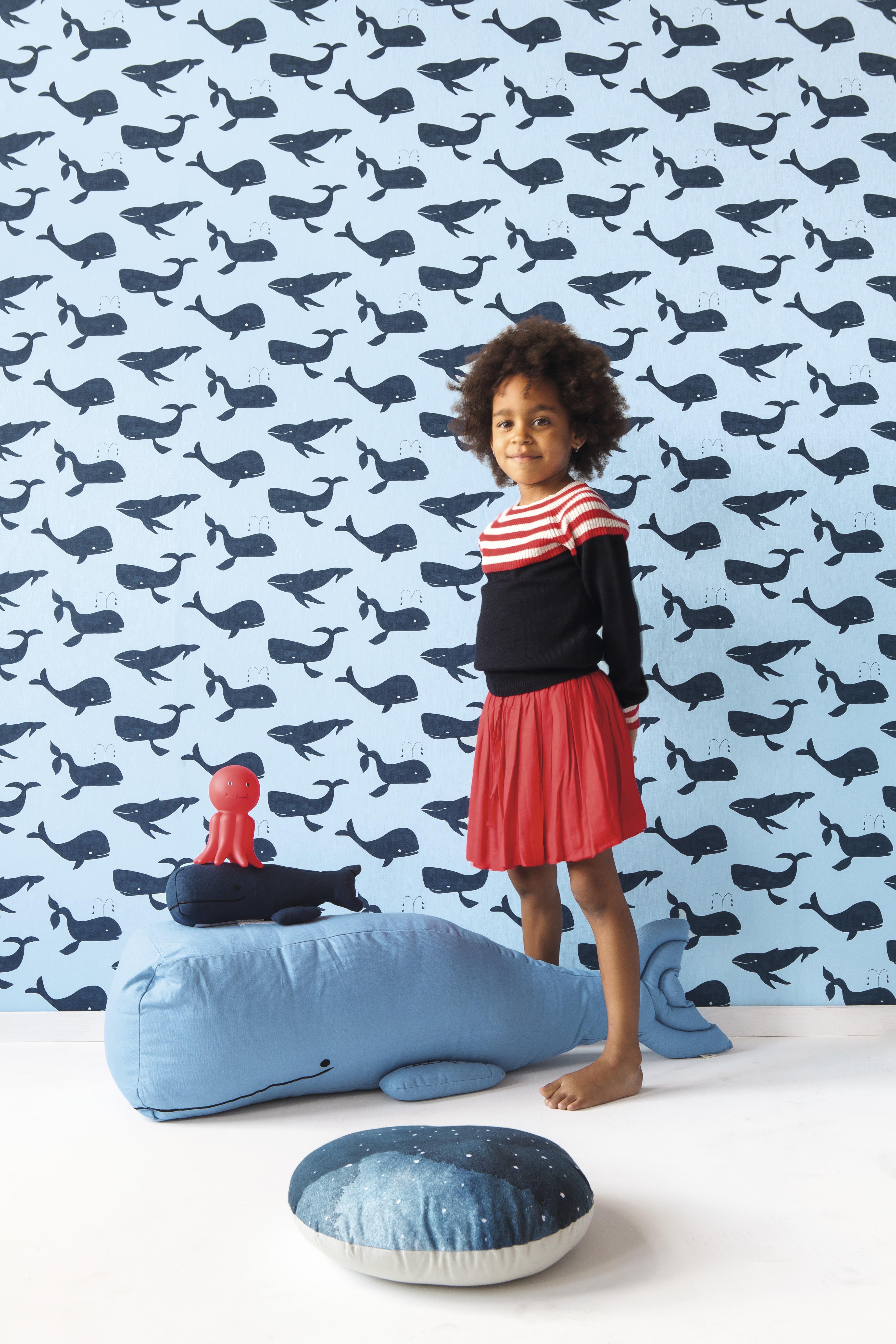 Kék bálnás gyerek tapéta