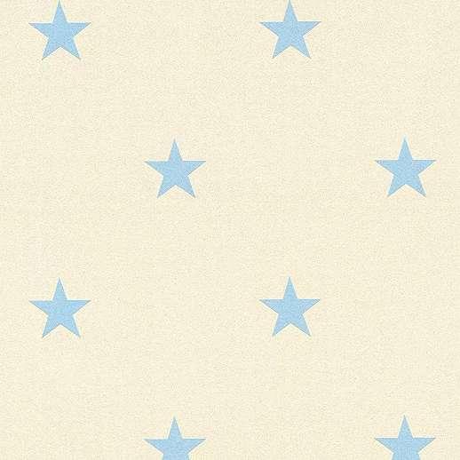 Kék csillag mintás gyerekszobai tapéta