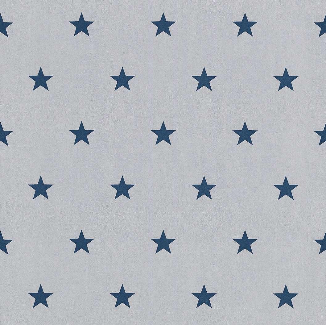 Kék csillagmintás gyerek tapéta